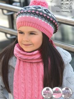 Комплект дет.трикотажный (берет+шарф) 14С-24СП,14С-26СП