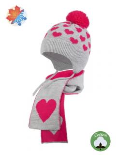 Комплект детский трикотажный 2-х предметный: шапка и шарф ESLI (48-50: 12х115) 18С-26СП:18С-27СП